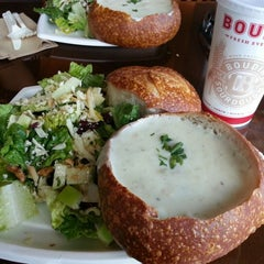Photo taken at Boudin Bakery Café Embarcadero by Malcolm O. on 2/8/2013