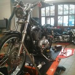 Photo taken at Harley Davidson Šalamounka Club by Danny B. on 2/5/2014
