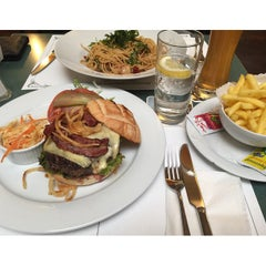 Photo taken at Brasserie Bahnhof Basel by GOLF A. on 4/8/2015