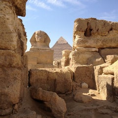 Photo taken at Great Sphinx of Giza | تمثال أبو الهول by Adriano M. on 10/26/2012