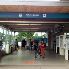 Photo taken at King Edward SkyTrain Station by Eric W. on 6/21/2013