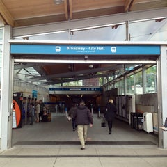 Photo taken at Broadway - City Hall SkyTrain Station by Eric W. on 6/21/2013
