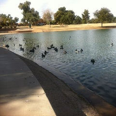 Photo taken at Dobson Ranch Park by Wendy L. on 2/2/2013