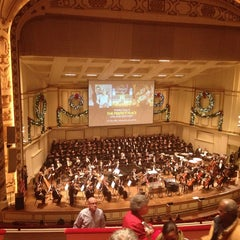 Photo taken at Powell Hall by Stephanie L. on 12/21/2012