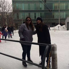 Photo taken at Kendall Square Community Ice Skating by Beverly D. on 3/1/2015