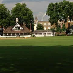 Photo taken at Vincent Square Playing Fields by Sam C. on 8/8/2013