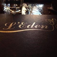 Photo taken at L'Eden Cafe by Eddie D. on 4/5/2014