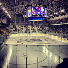 Photo taken at Yost Ice Arena by Brett S. on 10/19/2012