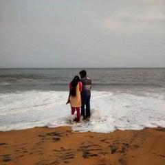 Photo taken at Kollam Beach by Hardeek S. on 6/1/2014