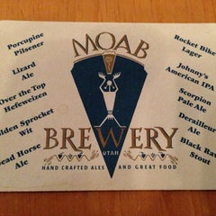Photo taken at Moab Brewery by Avery J. on 3/26/2013
