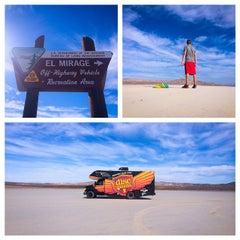 Photo taken at El Mirage Dry Lake by Avery J. on 10/17/2014