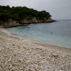 Photo taken at Srebrena beach by Dunja D. on 6/1/2013