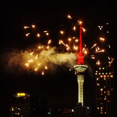 Photo taken at Sky Tower by Olly Z. on 2/24/2013