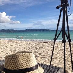 Photo taken at White Beach by Rey H. on 7/17/2013