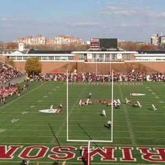 Photo taken at Harvard Stadium by Naveen S. on 11/17/2012