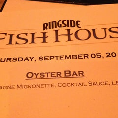 Photo taken at RingSide Fish House by Earl Y. on 9/6/2013