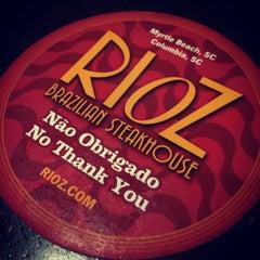 Photo taken at Rioz Brazilian Steakhouse by Melissa C. W. on 3/27/2015