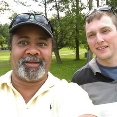 Photo taken at Newton Commonwealth Golf Course by Eric V F. on 5/24/2014