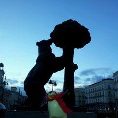 Photo taken at Estatua del Oso y el Madroño by Carole on 1/19/2013