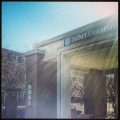 Photo taken at DePaul University Quad by NuttyKnot .. on 2/17/2013
