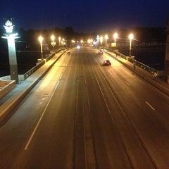 Photo taken at Ушаковский мост by Ilya C. on 6/8/2013