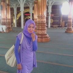 Photo taken at Masjid Agung Al-Falah by Rika A. on 2/8/2014