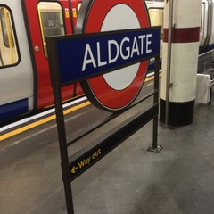 Photo taken at Aldgate London Underground Station by Chris B. on 7/15/2015