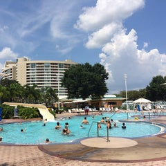 Photo taken at Contemporary Resort Pool by John I. on 8/22/2014