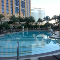 Photo taken at Palazzo Pool by Terry L. on 6/23/2013