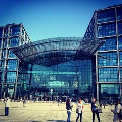Photo taken at Berlin Hauptbahnhof by Anastasia L. on 5/1/2013