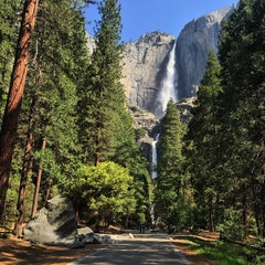 Photo taken at Lower Yosemite Falls by Michael O. on 5/29/2015