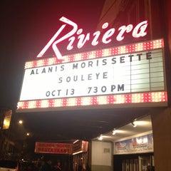 Photo taken at Riviera Theatre by Henrietta V. on 10/14/2012