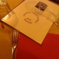 Photo taken at Antica Trattoria Del Tondo by Nicola D. on 12/16/2012