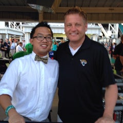Photo taken at Clevelander Deck at EverBank Field by Andy L. on 5/9/2014