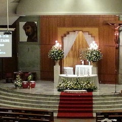 Photo taken at Gereja Katolik Santo Andreas by Tania Tany L. on 3/30/2013