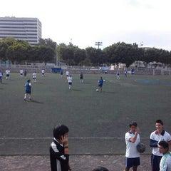 Photo taken at Cancha de Futbol de la Delegación Benito Juarez by Josué M. on 2/25/2013