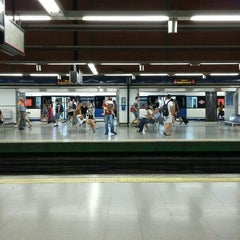 Photo taken at Metro Moncloa by Gerard T. on 6/27/2015