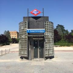 Photo taken at Metro Ciudad Universitaria by Gerard T. on 6/27/2015