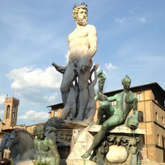 Photo taken at Piazza della Signoria by Kim Kate on 4/18/2013