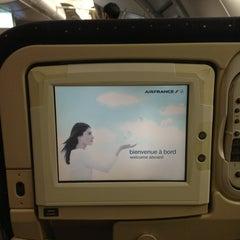 Photo taken at Air France - Flight AF 7 by Mindy J. on 2/5/2013