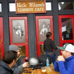 Photo taken at Nick Wilson's Cowboy Cafe by J K. on 3/1/2013