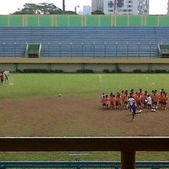 Photo taken at Stadion Lebak Bulus by Aprilia R. on 12/16/2012