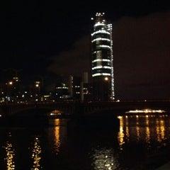 Photo taken at Vauxhall Bridge by Dmitry K. on 12/25/2012