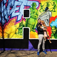 Photo taken at Graffiti Hall Of Fame by Taylor H. on 4/12/2015