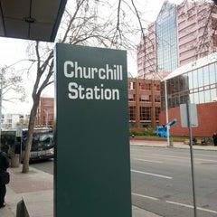 Photo taken at Churchill LRT Station by Jm H. on 10/18/2012