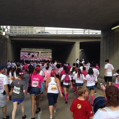 Photo taken at Susan G. Komen Race For The Cure by Sang L. on 10/5/2013