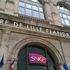 Photo taken at Station Gare Lille-Flandres ⓇⓉ by Quang D. on 6/18/2014