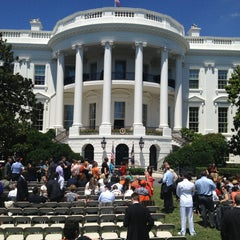 Photo taken at South Lawn - White House by Mike B. on 7/29/2013