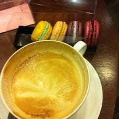 Photo taken at MacarOn Café by Marisa C. on 2/18/2013