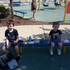 Photo taken at Zachary's Playground - Hawk Ridge Park by Matt S. on 9/29/2012